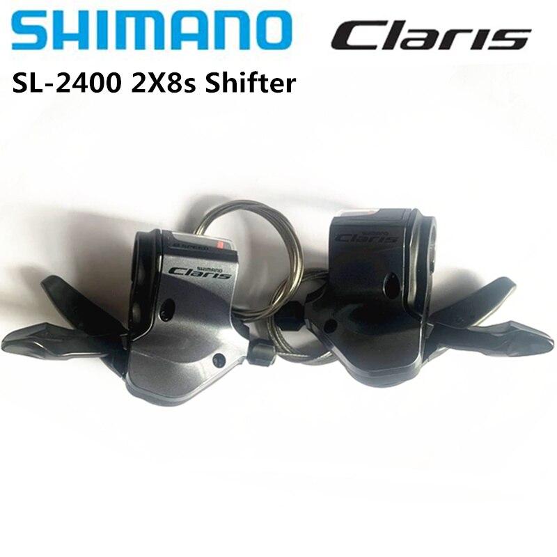 Shimano Claris SL-2400 2x8S 16 скоростной шоссейный велосипед, рычаг переключения передач 2400 для дорожного складного велосипеда