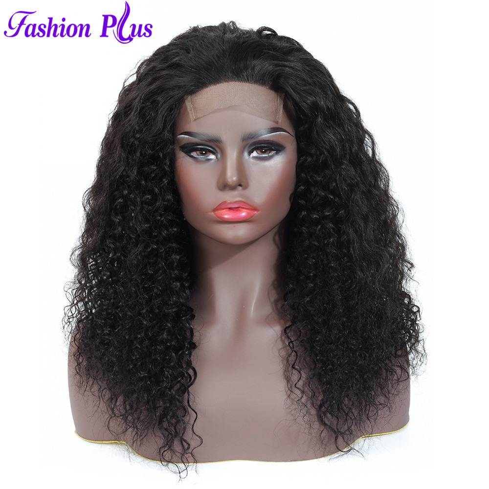 Lace Closure Wigs Remy Hair 100% Human Hair Pre Plucked With Baby Hair Brazilian Curly Wigs 4*4 Lace Closure 150% Density