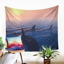 Macrame Panel Wall Carpet Large Wall Tapestry Fabric Shark Pattern Modern Home Decoration Dorm Dector Wall Hanging
