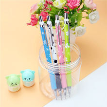 Rubber non-slip mechanical pencil 2B 0.5/0.7mm Black School student cute writing stationery 2PCS/lot
