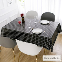 PVC Tablecloth Oil-Proof And Lattice Woven Ins
