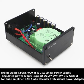 Breeze Audio 15W Linear Power Supply Regulated power supply Refer to STUDER900 support 5V/ or 9V/ or12V/ or 24V Output for DAC image