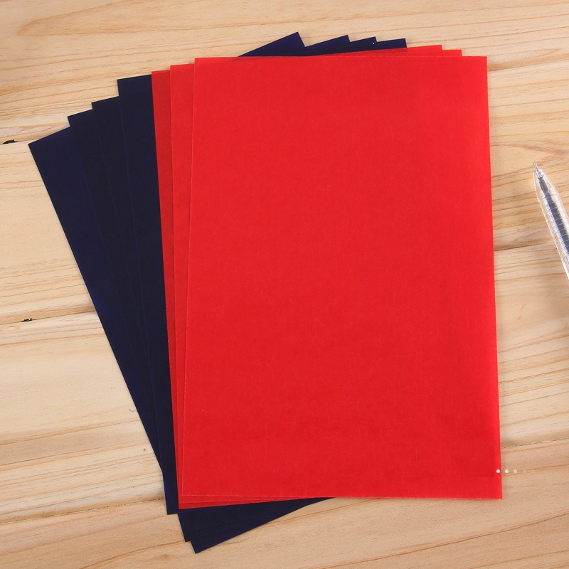 32k 97Sheets Blue  + 3 Red Color Double Sided Carbon Paper Thin Type Accounting Bill File Tool Copy Paper Office Stationery 9374