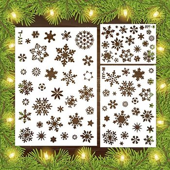 S M L snowflake winter Christmas holiday DIY snowflake template coloring stencil coloring scrapbook decoration embossing Stencil