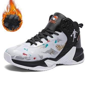 Unisex jesień zima ciepłe futro pluszowe trenerzy męskie buty sportowe wysokie szczyty buty męskie buty do koszykówki kobieta lekkoatletyka kosz tanie i dobre opinie Fine Zero CN (pochodzenie) Średnia (B M) Do kostki RUBBER Cotton Fabric 8856-63 ELASTYCZNE Sznurowane Spring2019 Dobrze pasuje do rozmiaru wybierz swój normalny rozmiar