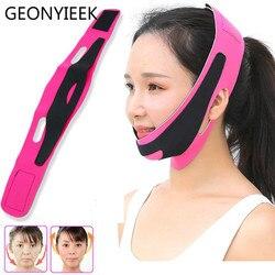 Doble mentón y rostro vendaje adelgazamiento antiarrugas máscara Correa V cara línea cinturón mujeres adelgazamiento fino herramienta para belleza facial