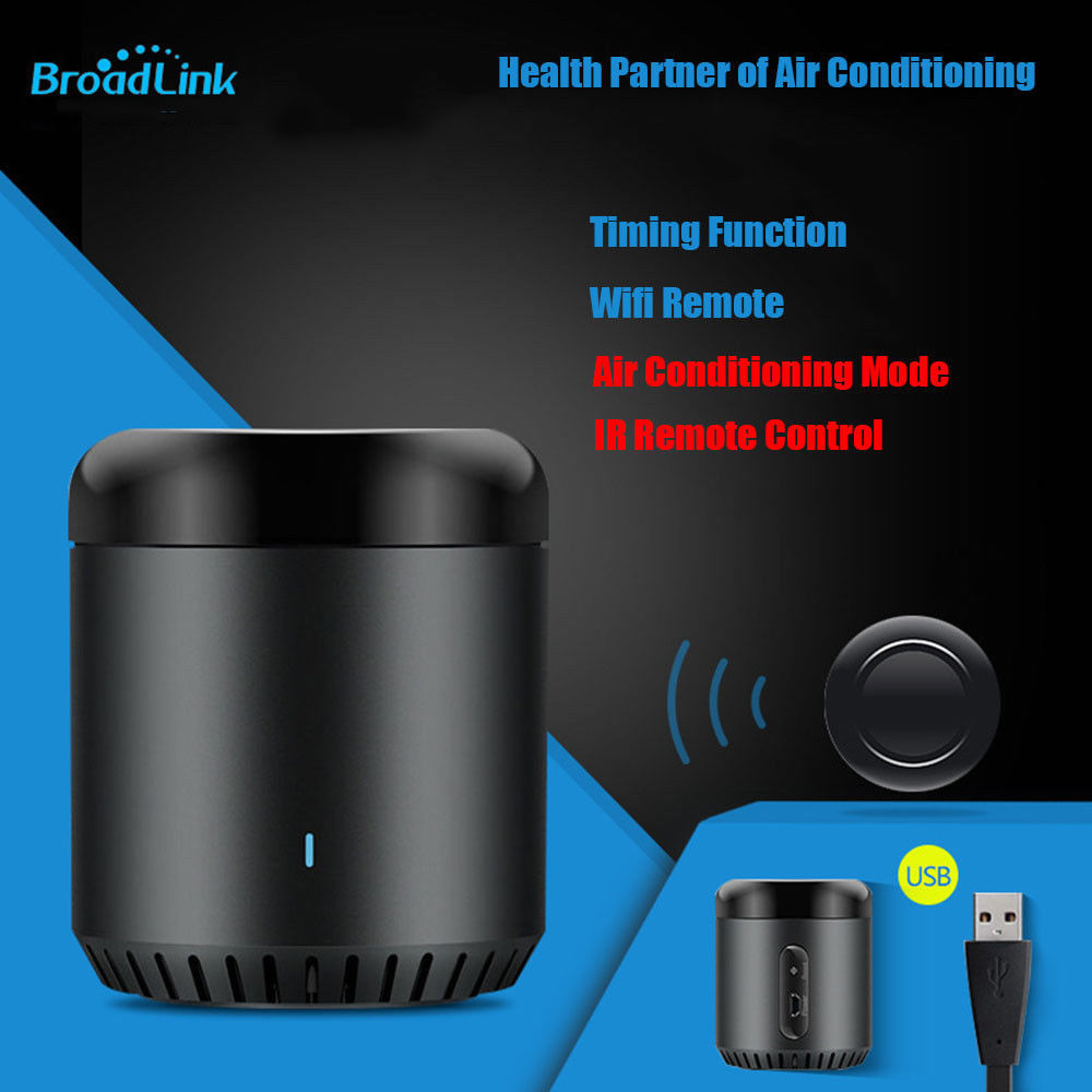 Broadlink 2019 RM Mini 3 WiFi+IR Remote Control For Alexa Google Home IFTTT AC TV Android IOS APP Smart Controller Russian Stock