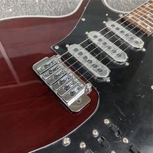 Najwyższej jakości gildia Brian BM01 Brian May gitara czarny Pickguard 3 przetworniki Tremolo most 24 progi niestandardowe wino czerwone gitara elektryczna tanie tanio GROTE Rosewood MAHOGANY Strona główna-schooling Profesjonalna wydajność Beginner Unisex CN (pochodzenie) Brazylia drewna