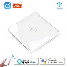 купить WIFI Smart Touch Switches Wireless Remote Control Light Wall On/Off Switch Waterproof Glass Panel alexa amazon compatible ifttt дешево