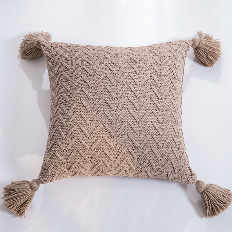 Luca Knitted Tassels Cushion Cover