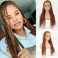 Braided Wig Lace-Front Baby-Hair Synthetic High-Temperature Black-Women Charisma Box