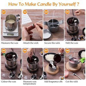 Набор для изготовления свечей «сделай сам», наборы для изготовления свечей, пчелиный воск ручной работы, декоративные принадлежности, 1 комплект