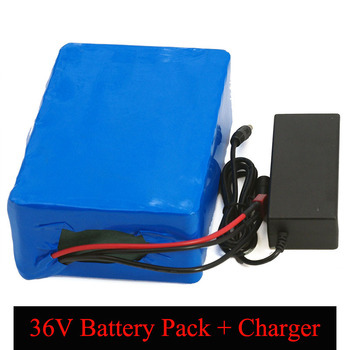 36V Lithium battery 36v 13ah 16ah 20AH Electric Bike battery 36 V 20ah 1000W Scooter Battery with 30A BMS + 42V 2A charger image
