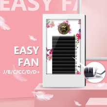 BRILLANT  Easy Fanning Volume Mega Eyelashes Extension Austomatic Flowering Rapid blooming Self-Making fans lashes