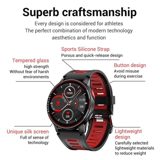 Nuevo reloj inteligente ESEED 2020 IP68 a prueba de agua S20 para hombres y mujeres, rastreador deportivo de larga espera, reloj inteligente L6 para xiaomi huawei