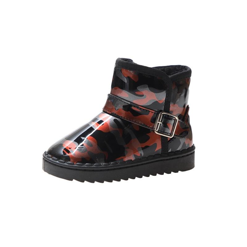 Anne ve Çocuk'ten Botlar'de 2019 yeni erkek kız sıcak kar botları çocuk ayak bileği ayakkabı moda kış çocuk su geçirmez sıcak botlar 2 3 4 5 6 7 8 9 10 yaşındaki title=