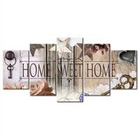 5pcs Full Square / Round 5D DIY Diamond Drill Painting Home sweet home picture Multi embroidery combination 5D Decor