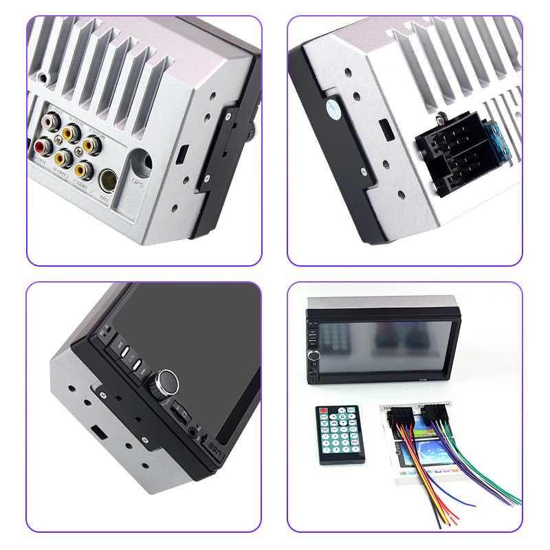 Camecho araba radyo evrensel 2 Din 7 inç ses Stereo radyo HD dokunmatik ekran araba Video multimedya MP5 çalar FM /USB/AUX kamera