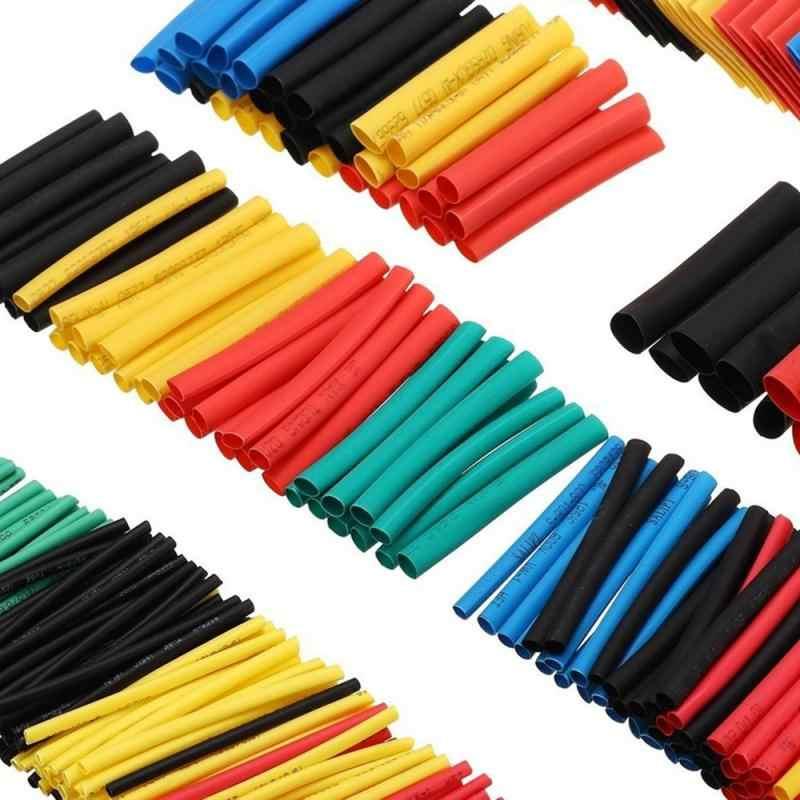 Ensemble de 328 tubes thermorétractables d'isolation en polyoléfine, assortiment de manchon fils thermorétractables, manchon de câbles, tendance