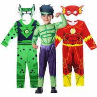Disfraz de Hulk Flash para niños y niñas, ropa de cosplay con músculos para Halloween
