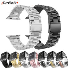 Probefit pulseira de aço inoxidável para apple watch 42mm 38mm 1/2/3/4 pulseira de metal para iwatch series 4 5 44mm 40mm(China)