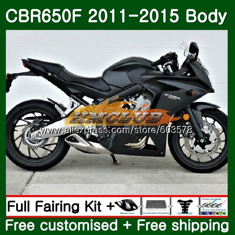 CBR-650F Pour HONDA CBR 650F 650 F 2011 2012 2013 2014 2015 noir mat 130CL. 19 CBR650 F CBR-650 CBR650F 11 12 13 14 15 Carénage
