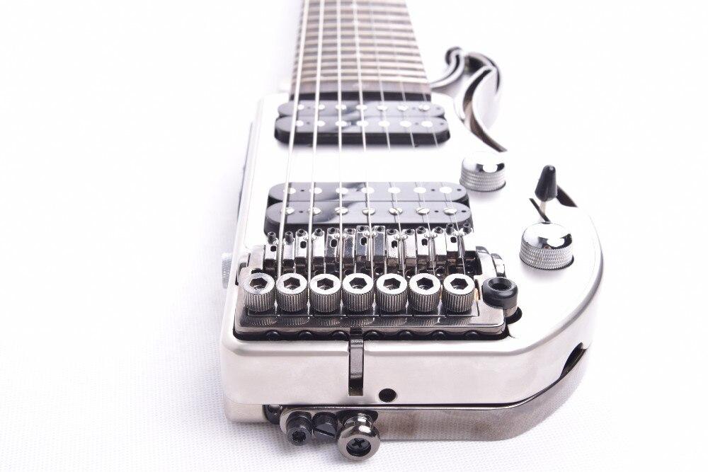 Электрическая дорожная гитара ALP без головы с двойным хамбакером, эрбеновая доска для пальцев, складная гитара 2