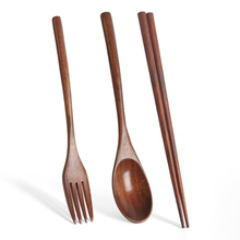 Spoons-Fork Chopstick Pocket Gift Bamboo Japanese Wood with 1pairs Handmade