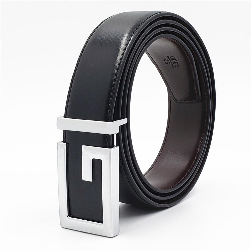 New Fashionable Leopard Belt 100/% pure leather Women/'s//Men/'s Buckle Belts Hot!