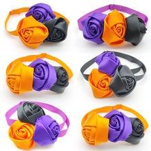50/100 шт милые цветочные галстуки бабочки для собак Хэллоуин