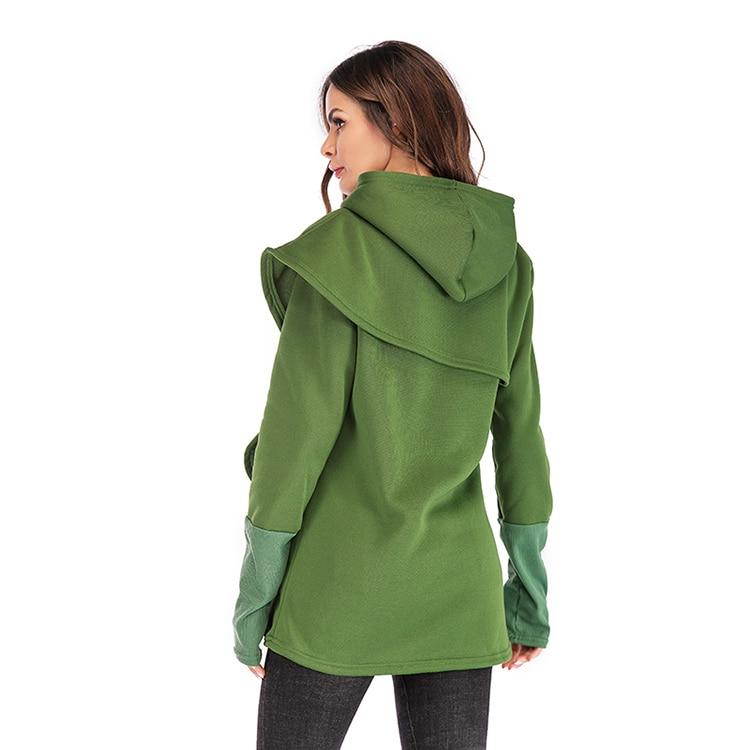 Women Hoodies Sweatshirts Autumn Winter Long Sleeve Pocket Pullover Hoodie 41