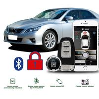 Comfort Keyless Entry PKE Start Stop System ios/Android APP Car Alarm Boost Car Engine 80 100M Remote Start For Home Peugeot 206