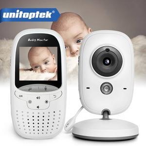 Image 1 - אלחוטי 2.0 אינץ וידאו צבע תינוק צג אבטחת מצלמה תינוק נני אינטרקום ראיית לילה טמפרטורת ניטור VB602