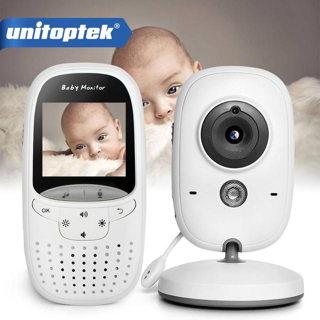 אלחוטי 2.0 אינץ וידאו צבע תינוק צג אבטחת מצלמה תינוק נני אינטרקום ראיית לילה טמפרטורת ניטור VB602