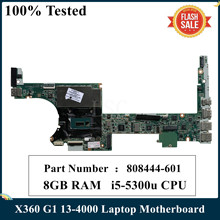 CPU Laptop Motherboard Da0y0dmbaf0-Mb 13-4000 808444-001 I5-5300u X360 for HP Spectre