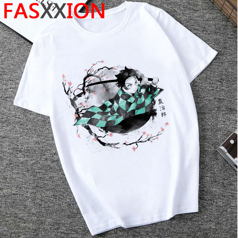 Demon Slayer T Shirt Men Japanese Anime  Streetwear Kimetsu No Yaiba Tshirt Kawaii  Harajuku Kamado Tanjirou Hip Hop  Tees Male