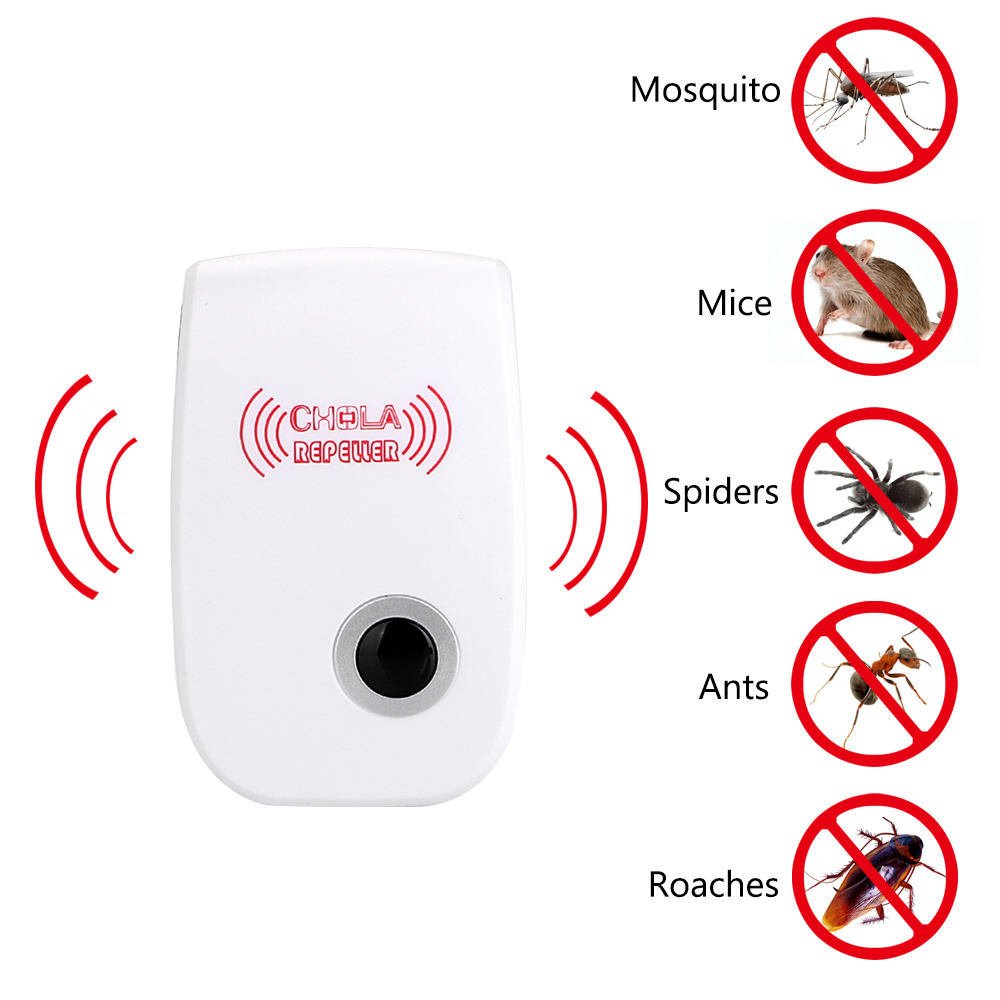 NICEYARD Electronic Mosquito Repellent Rodent Contro Indoor Cockroach Mosquito Insect Killer Ultrasonic Pest Repeller EU/US Plug