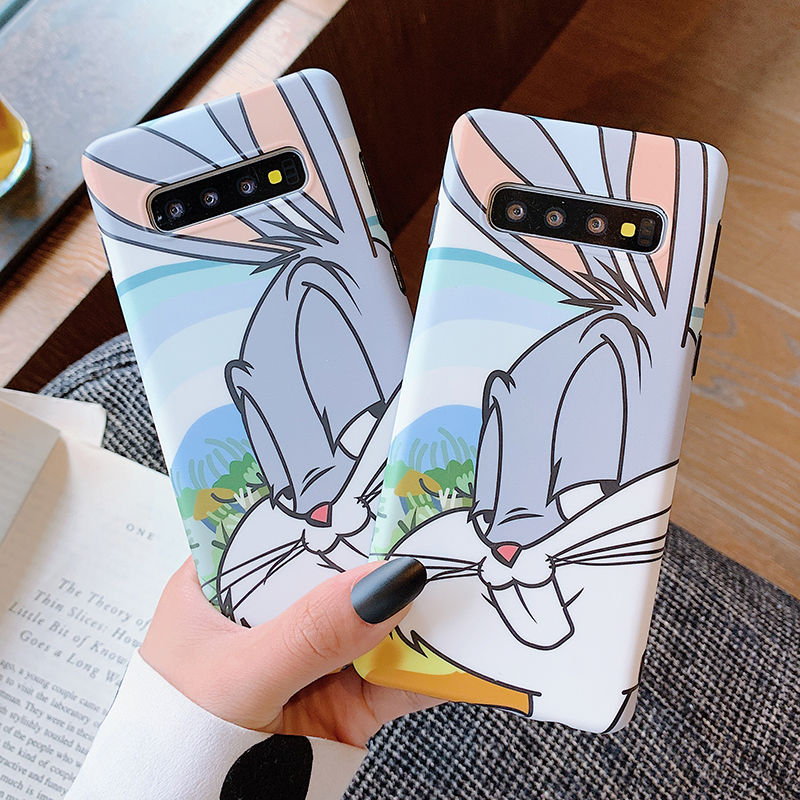 Cartoon Rabbit Phone Cover For <font><b>Samsung</b></font> <font><b>Note</b></font> 10 Plus 8 <font><b>9</b></font> Cute Talking Bunny Soft <font><b>Case</b></font> For <font><b>Samsung</b></font> Galaxy S10 S8 S9 Plus image