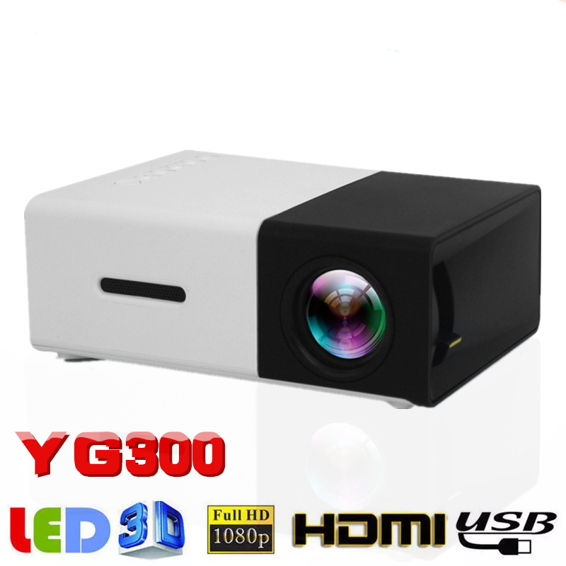 YG300 LED mini projector supports 1080P playback 320×240 pixels portable home media projector built-in speaker player