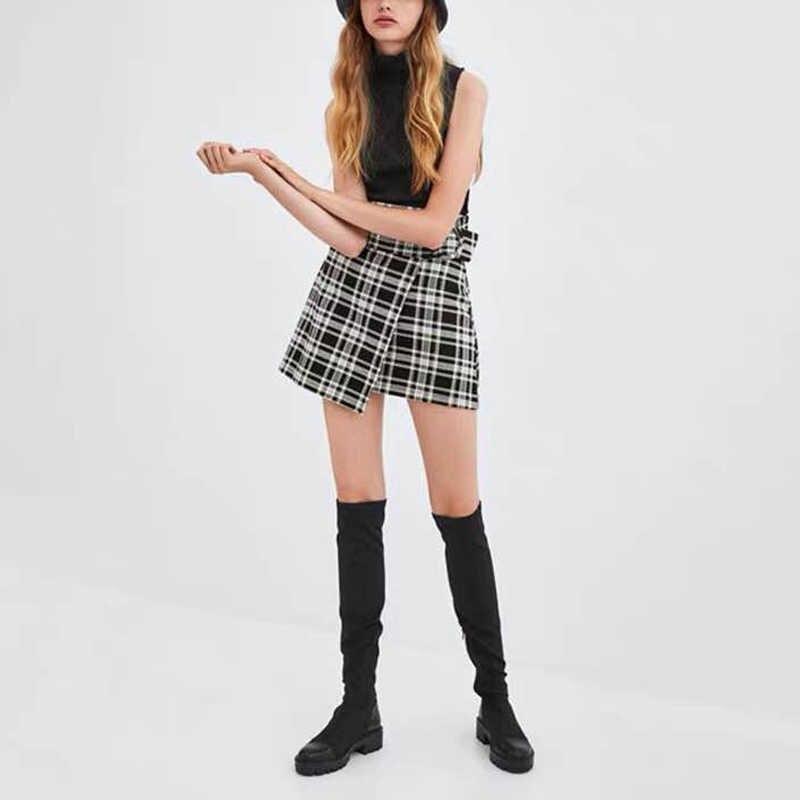 2019 Slim Co Giãn Lycra Đầu Gối Giày Cao Nền Tảng Mùa Đông Giày Nữ Dài Giày Mùa Đông Giày Nữ Sock Giày Trên đầu Gối Giày