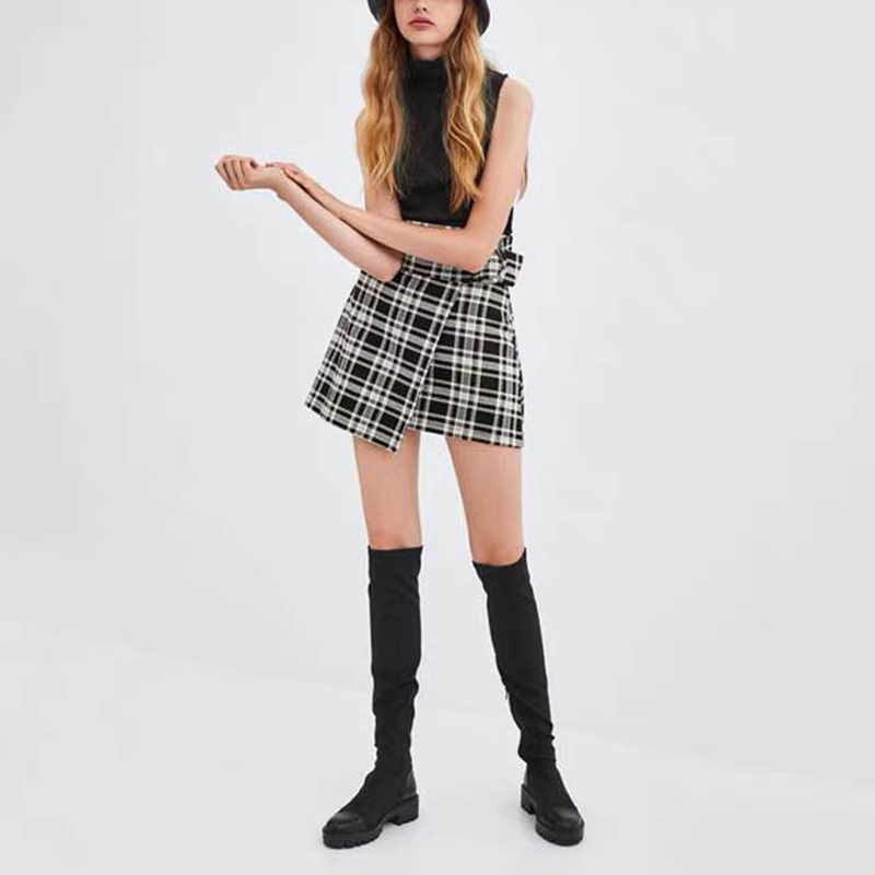 2019 Slim Stretch Lycra genou bottes hautes plate-forme bottes d'hiver femmes bottes longues chaussures d'hiver femmes chaussette bottes sur le genou bottes - 5