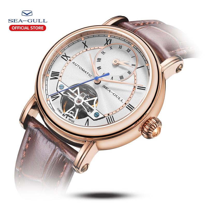 Image 2 - SEA GULL Business Watches Mens Mechanical Wristwatches Week Calendar 50m Waterproof Leather Valentine Male Watches 819.11.6041Mechanical Watches   -