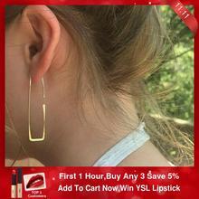 925シルバービッグゴールドフープイヤリングゴールド充填ヴィンテージジュエリー自由奔放に生きるorecchini brincos oorbellen pendientes女性のための