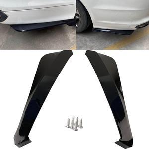 2pcs Car Rear Bumper Universal Rear Trunk Lip Spoiler Anti-crash Diffuser Lip Wrap Angle Splitter Protector Automobile Parts