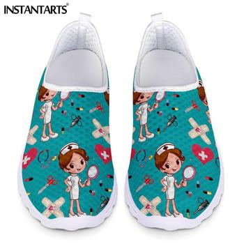 INSTANTARTS-zapatillas de deporte con estampado de enfermera para Mujer, Zapatos planos con...