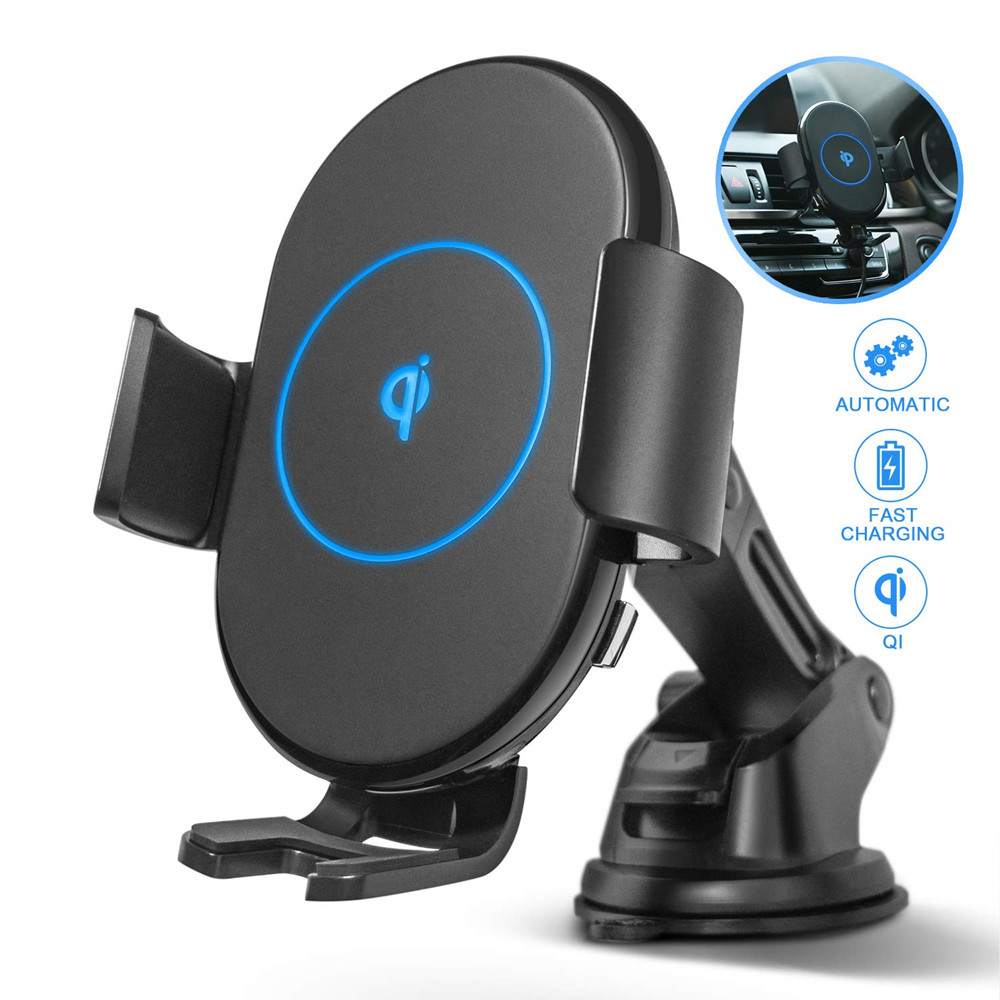 CRDC Auto-Clamping Wireless-Charger Xiaomi 10W Qi Car Fast-Charging-Phone 360-Rotation
