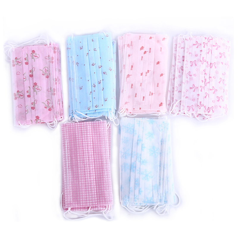 10Pcs Colorful Disposable Medical Dust Mouth Surgical Face Masks Respirator
