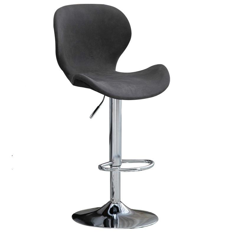 Bar Stool Home High Stool Solid Wood Back Bar Stool Lifting Bar Chair Front Bar Chair Bar Stool