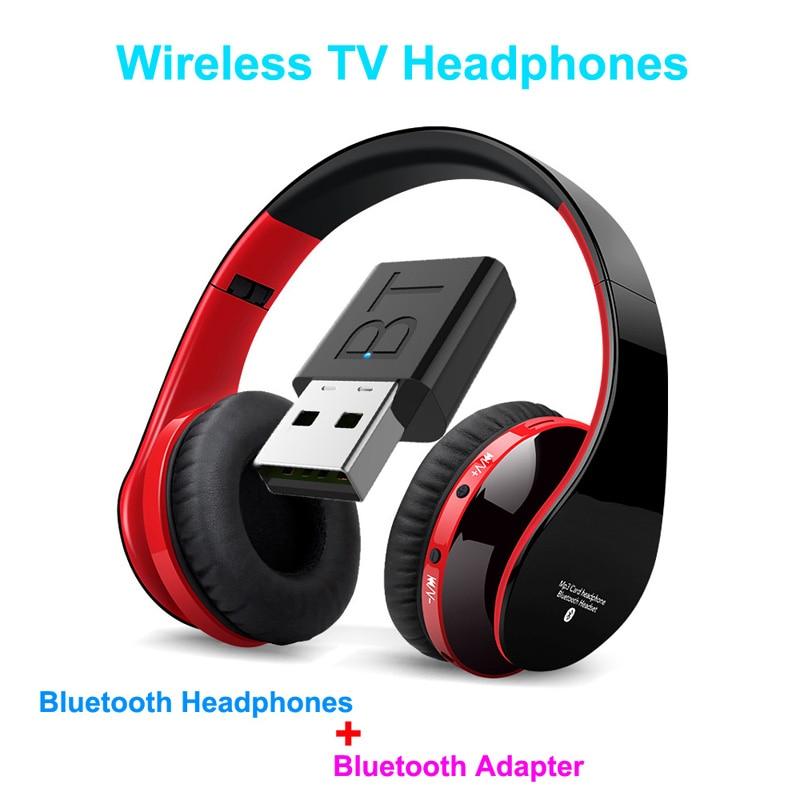 Bluetooth TV Headset, HiFi Bluetooth Headphone Deep Bass Wireless TV Headphone With Transmitter Stick For TV Computer Phone