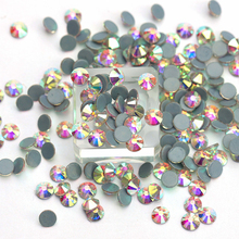 All Sizes AB Hot Fix Rhinestone Glass Crystal Flatback Austrian Hotfix Rhinestones For Wedding Dress